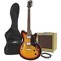 Pack guitare semi-acoustique San Francisco Sunburst + ampli SubZero V35G