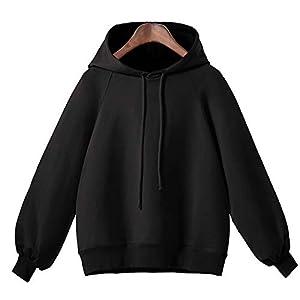 Festiday Long Sleeve Sweatshirt Women Clearance Sale 2018 Casual Women's Fashion Hoodies & Sweatshirts Women Lantern Sleeve Sweater Women's Long Sleeve Loose Thin Hooded Blouse