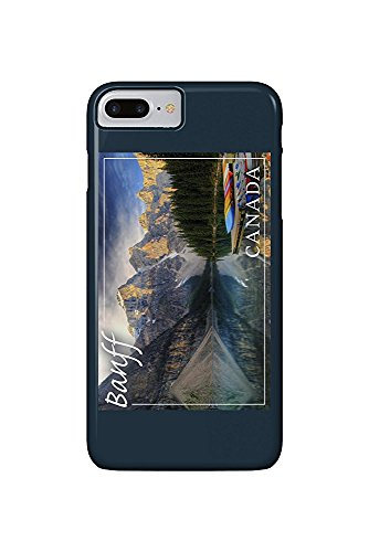 Banff, Canada - Moraine Lake Canoes (iPhone 7 Plus Cell Phone Case, Slim Barely There) -