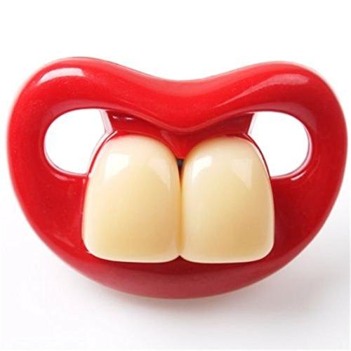 Hangqiao Baby Lustig Schnuller Mund Zähne Prank Besänftige Beruhigungssauger 6Arten (Arten2)