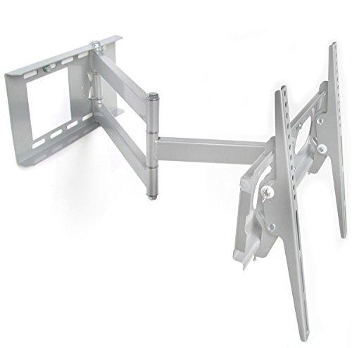 Fair Style Halterung schwenkbar ausziehbar +/- 15° geeignet für TV und Monitore bis 160 cm Diagonal (63 Zoll) mit VESA Normen in cm: 10x10 | 20x10 | 20x20 | 30x30 | 30x40 | 40x30 | 40x40, Wandabstand min 90 mm, max 670 mm geschweißte Gelenke, Farbe silber, universell passend für alle Monitore und TV-Marke, in bewährte Fair Style-Qualität, Model 6348
