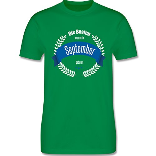 Geburtstag - Die Besten werden im September geboren - Herren Premium T-Shirt Grün