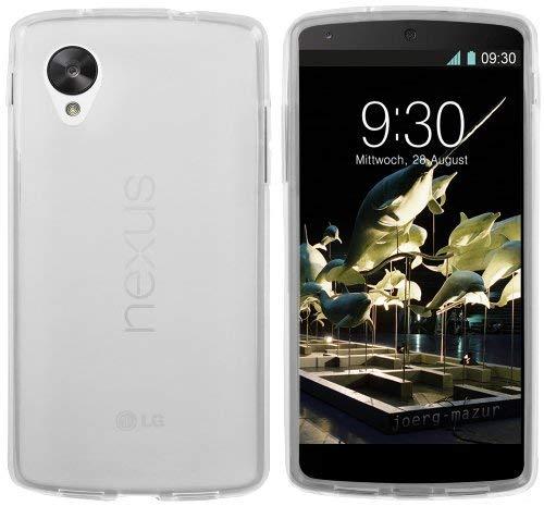 mumbi Schutzhülle für Google Nexus 5 Hülle transparent weiß