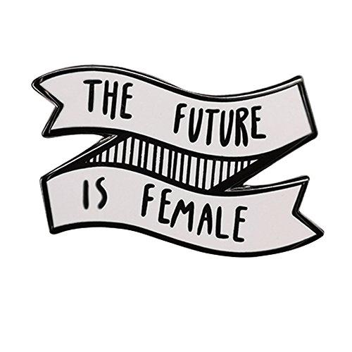 Gudeke El futuro es femenina feministas mujer feminismo esmalte pin