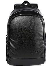 F Gear Castle Art Leather 24 Ltrs Black Casual Backpack (3153)