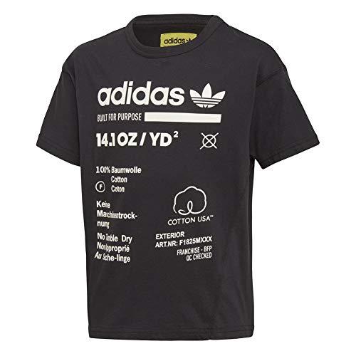 Adidas kaval, t-shirt ragazzo, black, 164