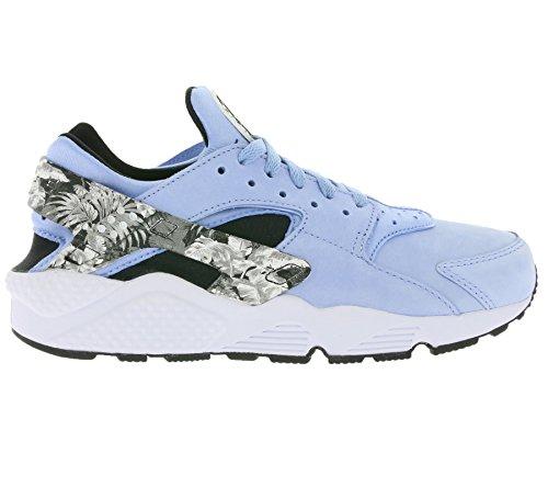 Nike Air Huarache Run PRM Scarpa Da Jogging, Uomo Multicolore (Gris / Negro / Blanco (Aluminum/Black-White))