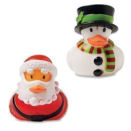 Weihnachten Gummienten Badeente - Santa Und Schneemann Ente 2 Stück Packung Strumpf Füller