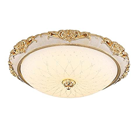 European Ceiling Lamp Circular HighQuality LED Patch Ceiling Light Highly Pervious to Light Glass Lampshade Lamp , Rose