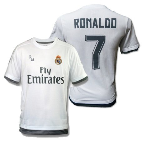 Maillot officiel du Real Madrid 2015-2016 floqué Ronaldo pour enfant, 6