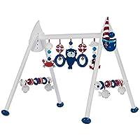 solini Spieltrapez maritim Holz höhenverstellbar / Spielbogen / Baby-Spielzeug / Holzspielzeug für Babys-Jungen-Mädchen preisvergleich bei kleinkindspielzeugpreise.eu