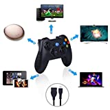 OOFAY Wireless Bluetooth Gamepad, Wireless Game Controller Gamepad Für PS3 Android TV Box Smartphone Tablet PC Fire TV (Schwarz)