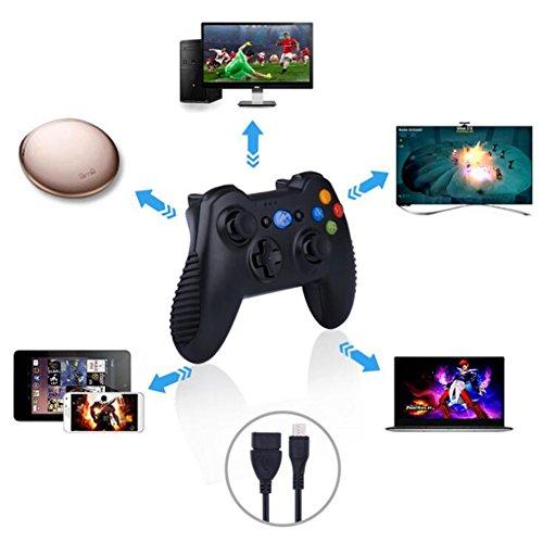 Preisvergleich Produktbild OOFAY Wireless Bluetooth Gamepad,  Wireless Game Controller Gamepad Für PS3 Android TV Box Smartphone Tablet PC Fire TV (Schwarz)