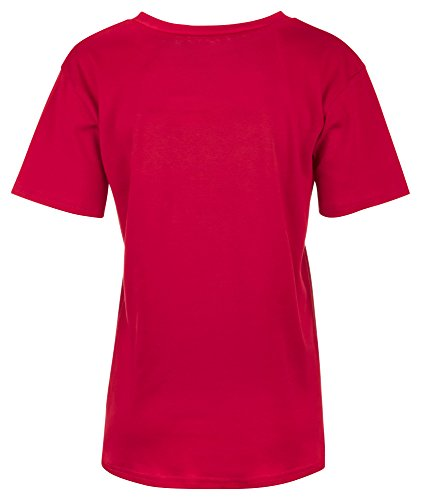 Loomiloo Oversize Shirt Bad Girls Club Damen T-Shirt Top Oberteil Tshirt Oversized Rot