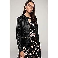 DeFacto Kadın Ceketler Suni Deri Ceket