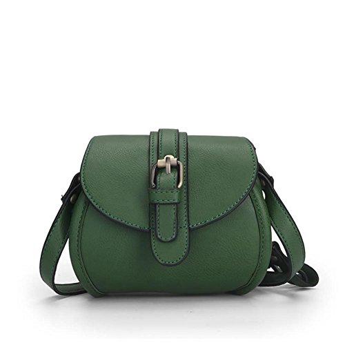 HQYSS Damen-handtaschen PU-lederner einfacher leichter Frauen-Schulter-Kurier-Beutel-einfarbige justierbare Taschen-Tasche Crossbody Beutel green