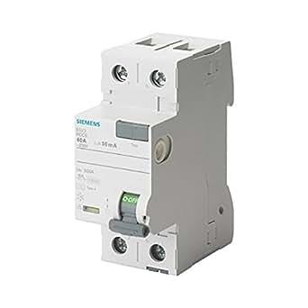Siemens 5SV–Interruttore differenziale clase-a 2poli 40A 30mA 70mm