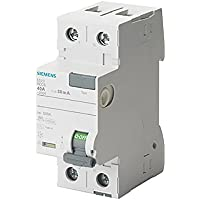 Siemens 5sv - Interruptor diferencial clase-a 2 polos 40a 30ma 70mm