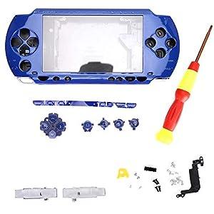 Tangxi Game Console Shell Ersatz für PSP2000, ABS-Material Game Console Full Housing mit Schraubendreher für Sony PSP2000 Console(Blau)