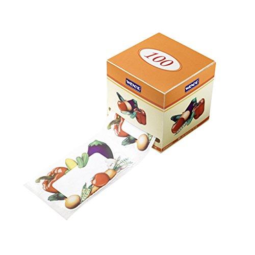 600etiquetas para tarros en dispenser-Por etiqueta: 6,5x 4,5cm (LXH)-selbsklebend