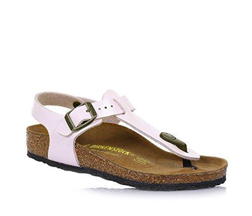 BIRKENSTOCK - Perlrosa Flip-Flops aus Filz und Lackleder, geschlossener Fersenbereich, Fußbett aus Kork, Mädchen-30