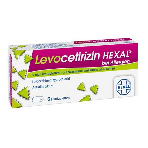LEVOCETIRIZIN HEXAL bei Allergien 5 mg Filmtabl, 1x6 Stk.