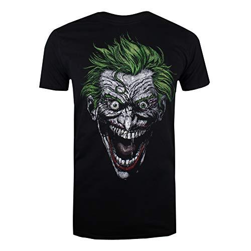 DC Comics Joker, Camiseta para Hombre, Negro (Black Blk) Large