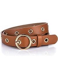 a2770a4c821 Ceinture pour dames vintage ceinture pleine trou ceinture ceinture de jeans  occasionnels (largeur 2 3