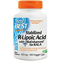 Doctor's Best   Stabilized R-Lipoic-Acid (R-Liponsäure)   100mg   180 vegane Kapseln   glutenfrei   sojafrei