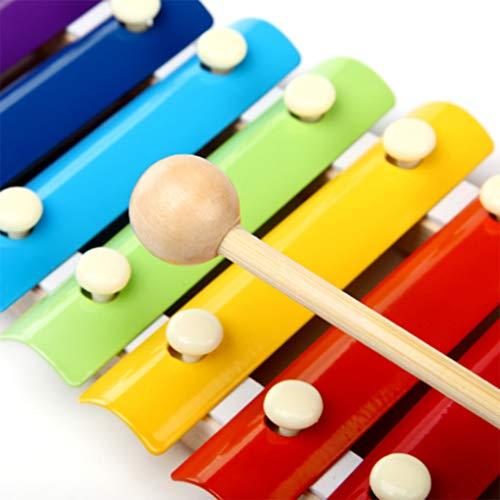 Meisijia Bunte Klopfen an dem Piano 8-Tone Xylophone Musical Toy Instrument für Baby Weisheit Entwicklung