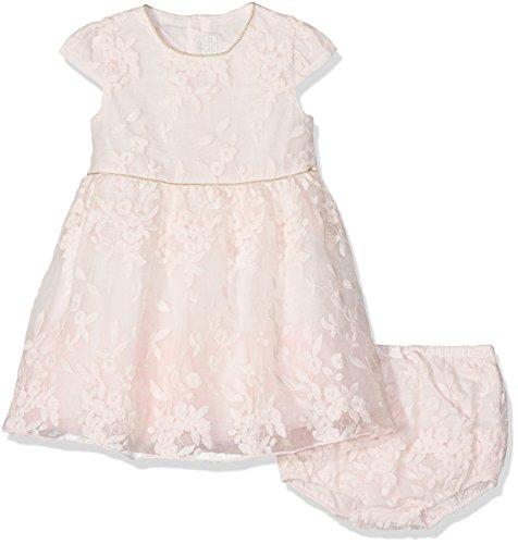 Mamas & Papas Baby-Mädchen Kleid mit Passendem Höschen Emb Lace Drs Pink, Rose, 74 Kinder Mädchen Höschen