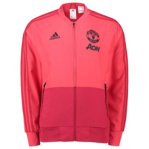 adidas Manchester United Presentation Jacket Sudadera, Hombre, Core Pink/Blaze Red/Black, Small