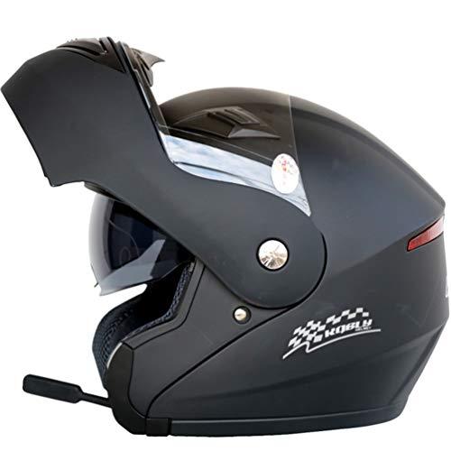 Adultos Bluetooth Moto Casco Motocicleta Antifogging