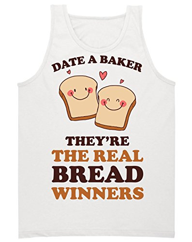 Date A Baker They're The Real Bread Winners Herren Tank Top Extra Large