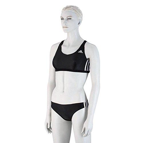Adidas - Costume a 2 pezzi da donna, con 3 strisce