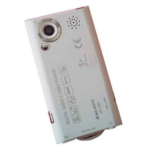 Majestic SDA 8064 EPWH Lettore MP3 e MP4 con Fotocamera da 3.2 MP, Bianco