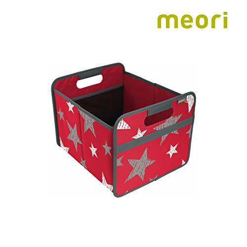 Faltbox Classic Medium Hibiskus Rot / Sterne (Vintage) 32x37x27,5cm stabil, abwischbar, Polyester Drinnen Draußen Spiel Sport Dekoration Kofferraumbox Transport Shopper -