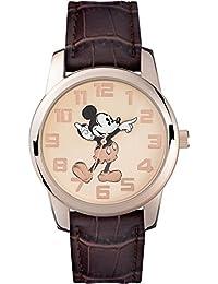 Mickey Mouse Reloj Analógico de Cuarzo Unisex con Correa de Pu – MK1459