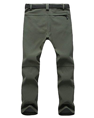Grande taille Homme Femme Pantalon de ski Épaississement Coupe-vent Imperméable Résistant à l'usure Outdoor Camping Randonnée Trekking Pantalons Vert armée hommes