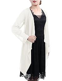 Timormode Damen Elegant Bolero Schlicht Chiffon Jacke Cape Sommer Strand Jacke 10381