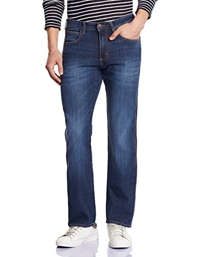 Wrangler Men's Millard Slim Fit Jeans Dark Blue and Black (8903779123234)  available at amazon for Rs.1097