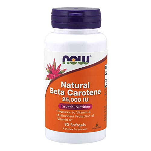 Now Foods Nat Beta Carotene 25000, Soft-gels, 90-Count