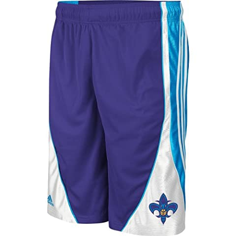 New Orleans Hornets NBA Basketball Youth Pre-Game Shorts, Purple (Small