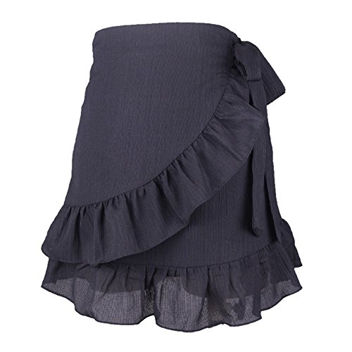 1fb8541f75d iBaste Women s High Waist Cover up Beach Sarong Swimsuit Wrap Tie Up Short  Skirt Solid Color