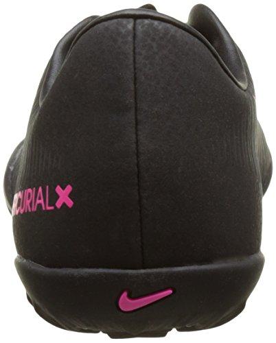 Nike Jr Mercurialx Vapor Xi Tf, Chaussures de Football Garçon Multicolore (Black/Black/Pink Blast)