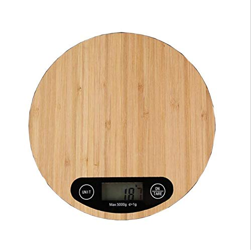 Ms.reia bilancia da cucina elettronica, bilancia da cucina digitale di bambù bilancia da cucina e tara per casa