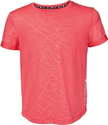 Crivit® Mädchen Sport T-Shirt Funktionsshirt Sportshirt Trainingsshirt, Kurzarm (Koralle Gemustert, Gr. 134/140)