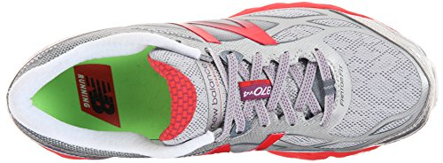 New Balance Women's W870V4 Running Shoe White/Red