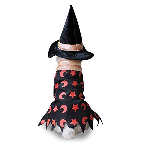 AMURAO Winter Hund Kleidung Mantel, Weihnachten Halloween Kleider Warme Katze Mantel Kürbis Wizard Transform Funny Kostüm