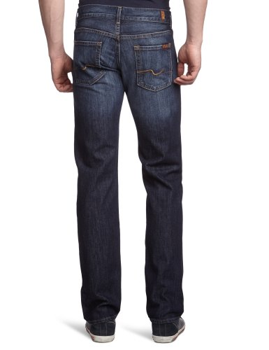 7 for all mankind Herren Straight Leg Jeanshose Standard Blau (New York Dark NY)